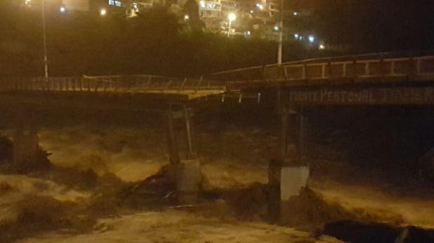 Colapsó el puente Javier Pérez de Cuellar y dejó aislado Huampaní