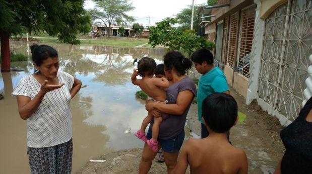 Piura: vecinos piden motobombas para sacar aguas estancadas
