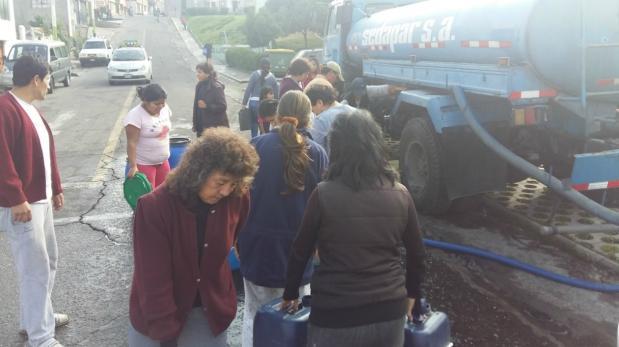 Corte de agua en Arequipa se prolongará hasta el jueves