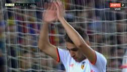 Barcelona: jugador del Valencia anotó 2-2 y se disculpó