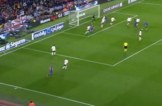 CUADROxCUADRO del gol de derecha de Lionel Messi ante Valencia