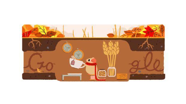 El nuevo doodle de Google le da la bienvenida al otoño