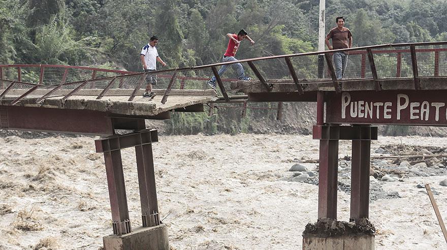 Lluvias han destruido 159 puentes en el país [FOTOS]