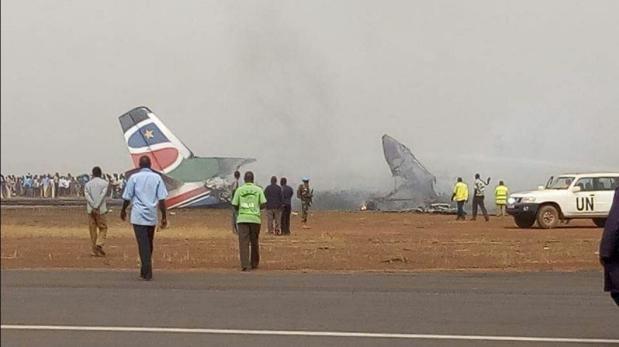 Sudán del Sur: Avión se estrella y deja 37 heridos