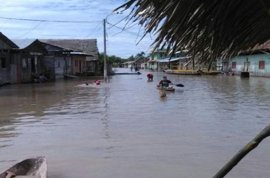 Loreto: río Amazonas a punto de desbordarse por lluvias