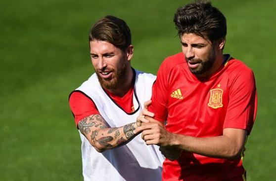"""Sergio Ramos sobre cruces con Piqué: """"Nos gusta el morbo"""""""