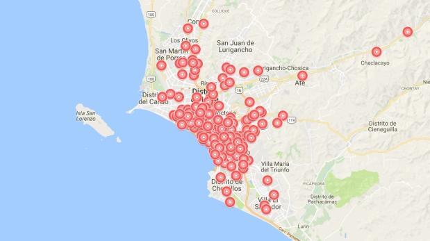 Crean mapa en línea con los puntos de acopio para donaciones