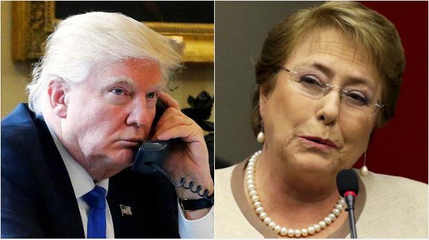 Trump llamó a Bachelet y hablaron sobre la crisis en Venezuela