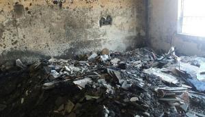 Los estragos que dejó el incendio en el Penal de Lurigancho