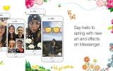 Facebook Messenger celebra con flores el inicio de la primavera