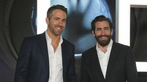 Ryan Reynolds y Jake Gyllenhaal en el avant premiere de