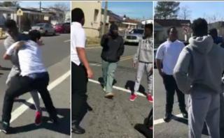 Facebook: hombre que detiene pelea callejera se vuelve viral