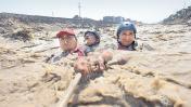 Tres rescatistas que arriesgan sus vidas en los huaicos