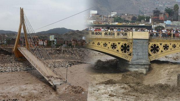 Expertos explican por qué el puente Solidaridad no soportó la crecida del río Rímac, mientras que el puente Balta sí lo hace. (El Comercio / Alessandro Currarino)