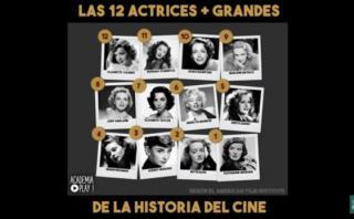 YouTube: las mejores actrices en la historia de Hollywood