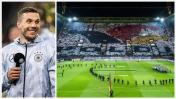 Podolski: imponente mosaico en su último partido con Alemania
