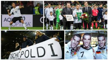 Podolski recibió despedida apoteósica en Signal Iduna Park