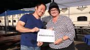 Kenji Fujimori y Nancy Lange, juntos en campaña de donativos