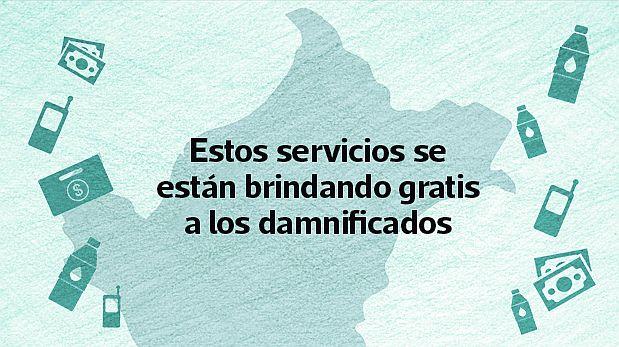 Las empresas han puesto sus servicios al servicio de damnificados por lluvias, huaicos e inundaciones. (Video: El Comercio)