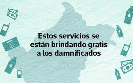 Los servicios gratuitos que reciben afectados por los desastres