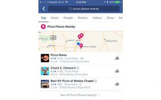 Facebook prueba función mejorada de búsqueda de negocios