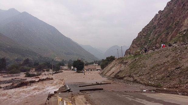Carretera Central bloqueada otra vez por huaico en Huarochirí