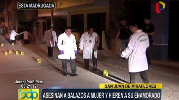 Sicarios matan de 7 balazos a joven en San Juan de Lurigancho