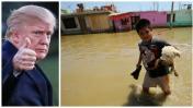 Trump donó medio millón de dólares para damnificados en Perú
