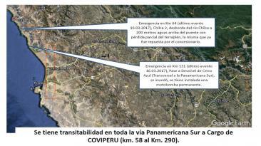 Ojo transportistas: las carreteras afectadas por las lluvias