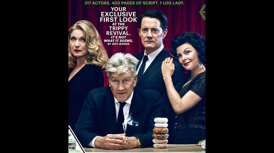 De izquierda a derecha, Laura Palmer (Sheryl Lee), Gordon Cole (David Lynch), Dale Cooper (Kyle MacLachlan) y Audrey Horne (Sherilyn Fenn). (Foto: EW)