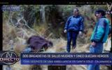 Cajamarca: dos brigadistas murieron tras vuelco de ambulancia