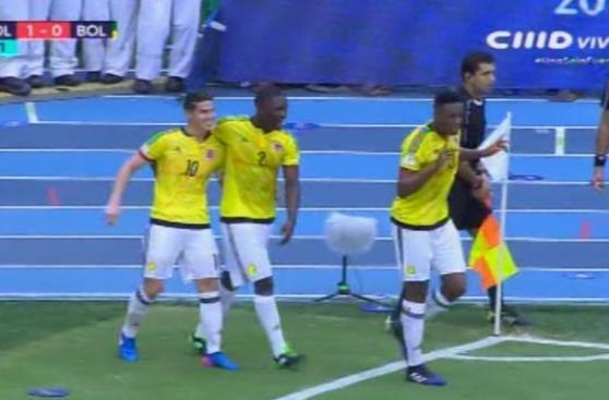 YouTube: gol de James mete a Colombia en zona de clasificación