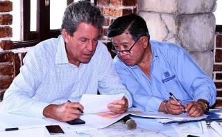 Alfredo Thorne se reunió con el gobernador regional de Lima, Nelson Chui, y los alcaldes de Lima Norte para desarrollar medidas conjuntas por la emergencia climática. (Foto: MEF)