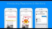 Facebook integra opciones de Reactions y Mentions a Messenger