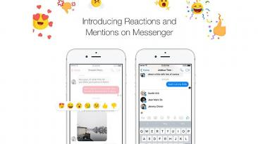Facebook integra opciones de Reactions y Mentions a Messenger
