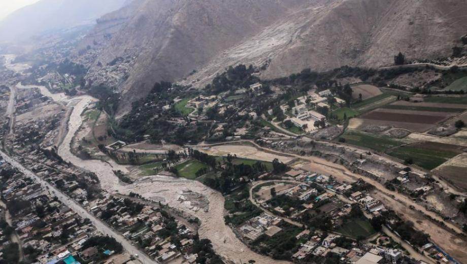 Los daños del río Rímac sobre Chosica vistos desde el aire