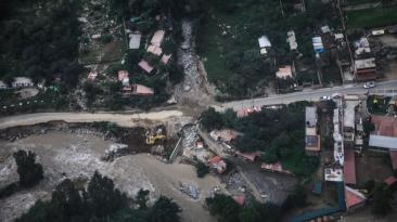 Río Rímac: los daños sobre Chosica vistos desde el aire [FOTOS]