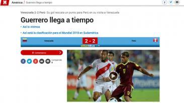 Selección: ¿qué dijo la prensa mundial sobre el empate?