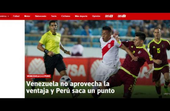 Selección: ¿Qué dijo prensa mundial sobre el empate 2-2?