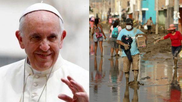 Por las inundaciones, el Papa donó 100.000 dólares a Perú