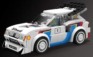 Otra leyenda en Lego: el Peugeot 205 Turbo 16 del Rally Mundial