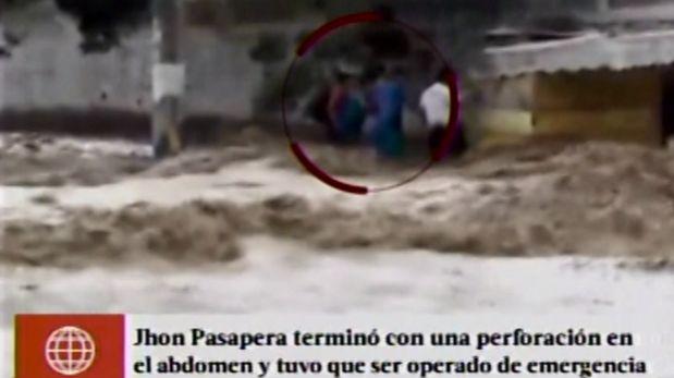 Según los testigos que registraron en video lo ocurrido, el atacante fue un agente de seguridad de Todinno de Huachipa. Víctima de balazo solo intentaba salvar a un perro del huaico. (América TV)