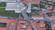 La Torre de Pisa vista desde Google Maps