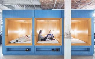 Oficina soñada: linda y ¡con un espacio para dormir!
