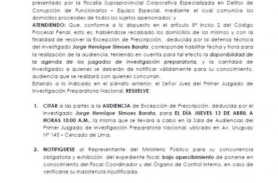 Jorge Barata busca la prescripción en el caso de Odebrecht