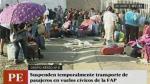FAP suspende traslado de pasajeros por puente aéreo desde Lima - Noticias de america noticias