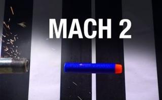 YouTube: bala de juguete duplica la velocidad del sonido