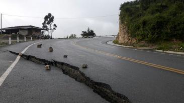 Así luce la carretera Cajamarca - Chota tras las lluvias