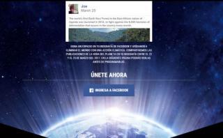 Apoya desde Facebook a la Hora del Planeta
