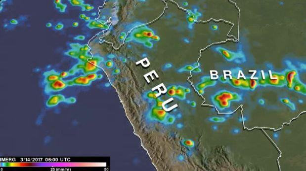 """NASA analizó las """"extremas"""" lluvias que se registran en el Perú"""